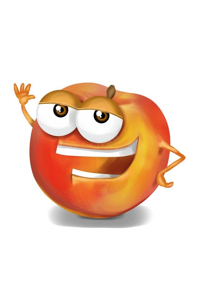 Download Happy Peach Cartoon Character Laughing Joyfully Stock Illustration - Illustration of joyful, peach: 39503721