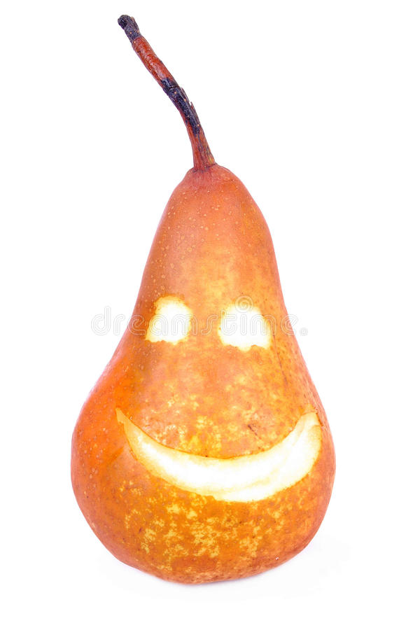 Pear on white