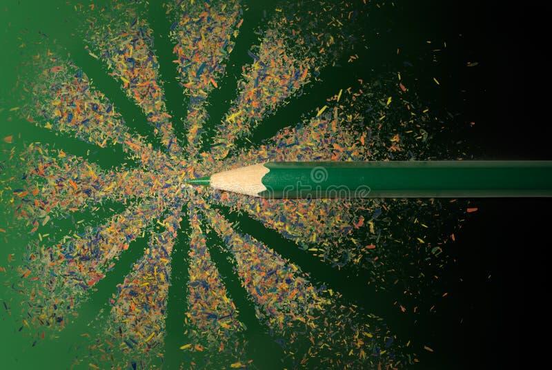 Happy pencil stock photos