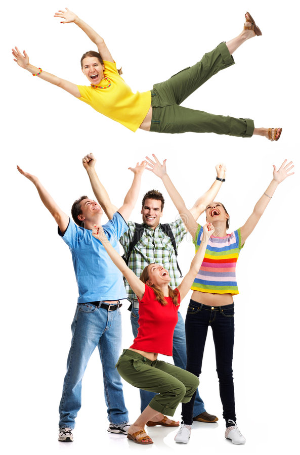 Happy people royalty free stock photography