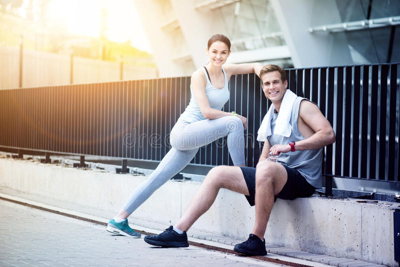 Happy people with active lifestyle. royalty free stock images