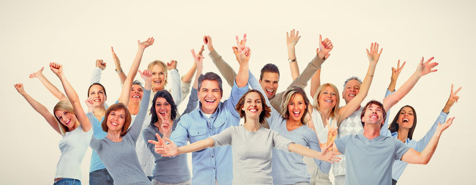 Happy people stock image