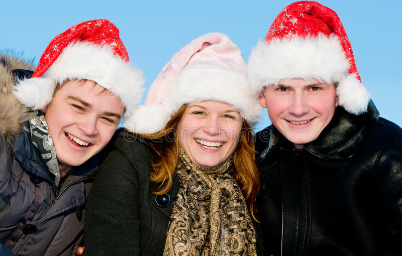 Download Happy People Playing In Winter Stock Photo - Image: 17377224