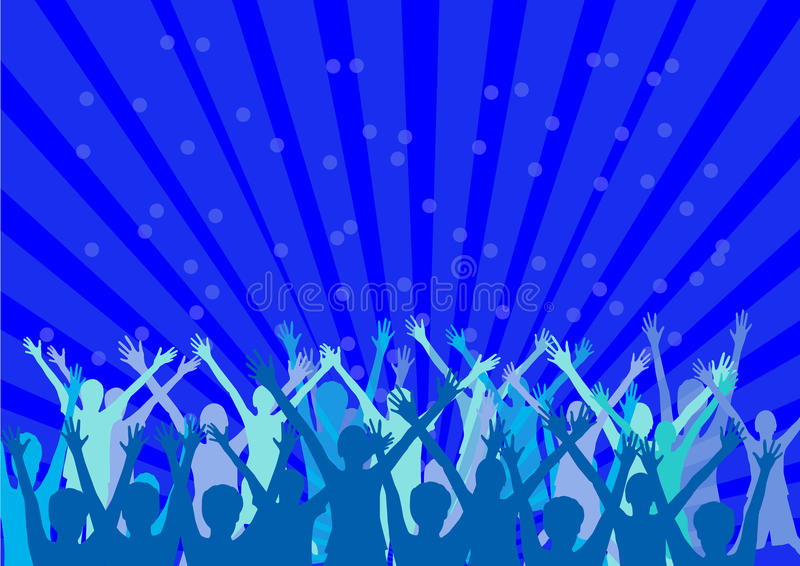Download Happy people silhouettes stock vector. Image of drawing - 33000696