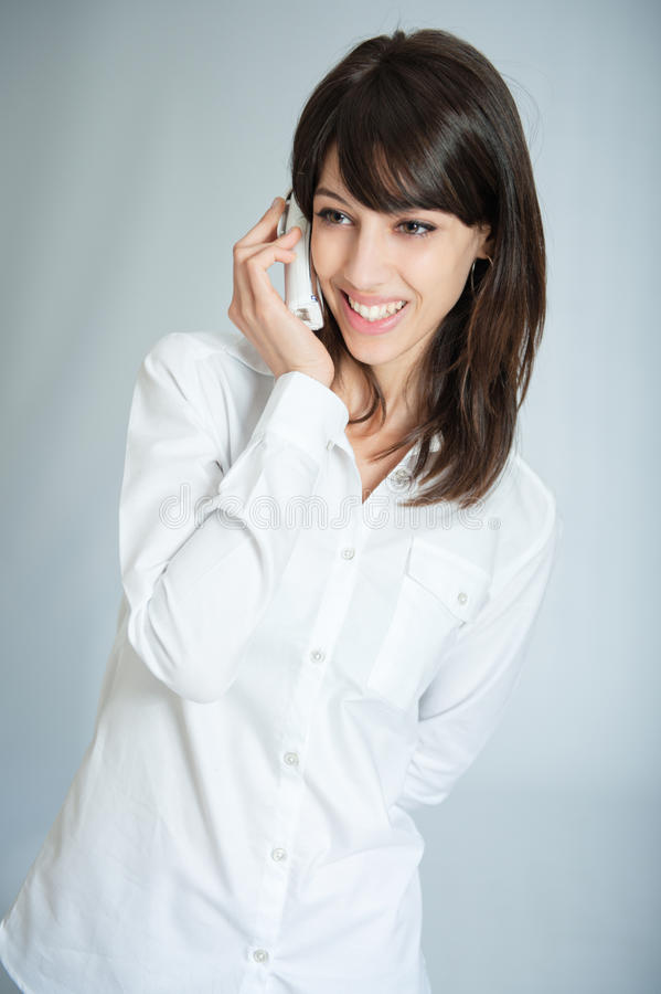Download Happy phone call stock image. Image of shirt, conversation - 23361855