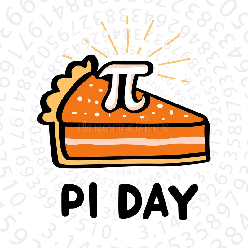 Happy Pi Day. ! Celebrate Pi Day. Mathematical constant. March 14th 3/14. Ratio of a circle's circumference to its diameter. Constant number Pi vector illustration