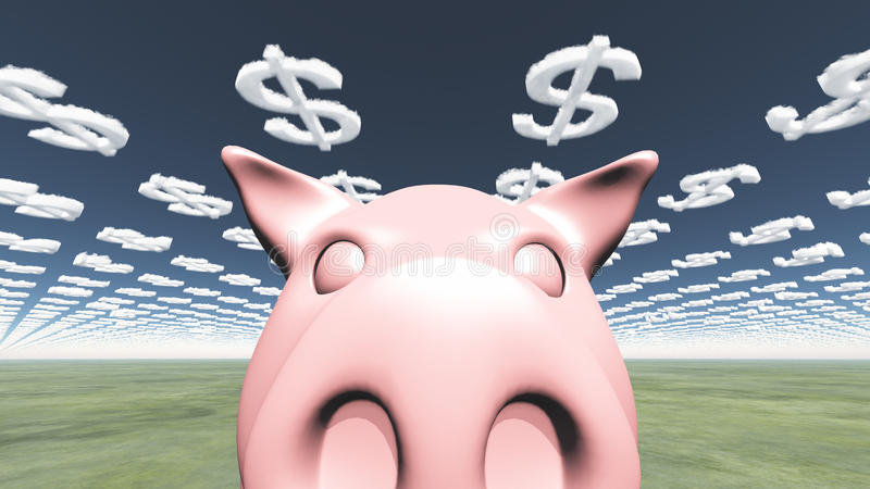 Download Happy Pig stock illustration. Image of currency, bank - 29307921