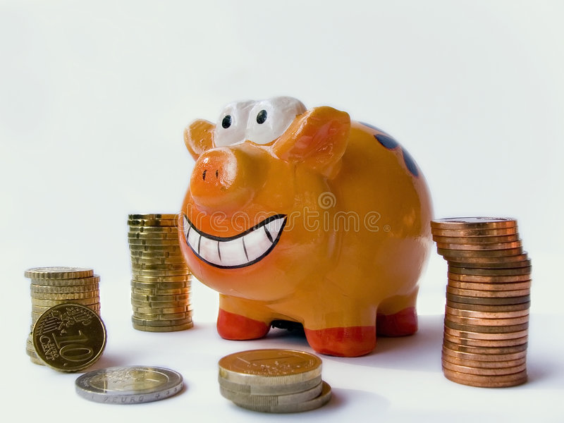 Happy piggy bank