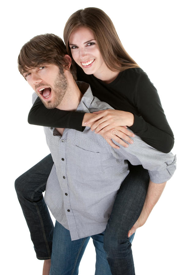 Happy Piggybacking royalty free stock image