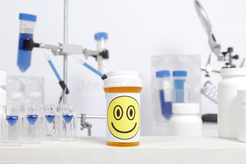 Happy Pill Laboratory royalty free stock photography