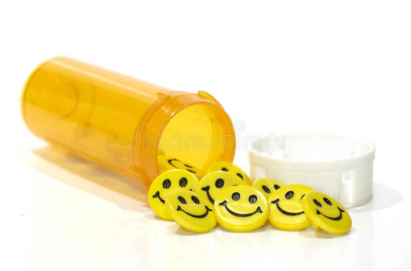 Happy Pills Stock Image