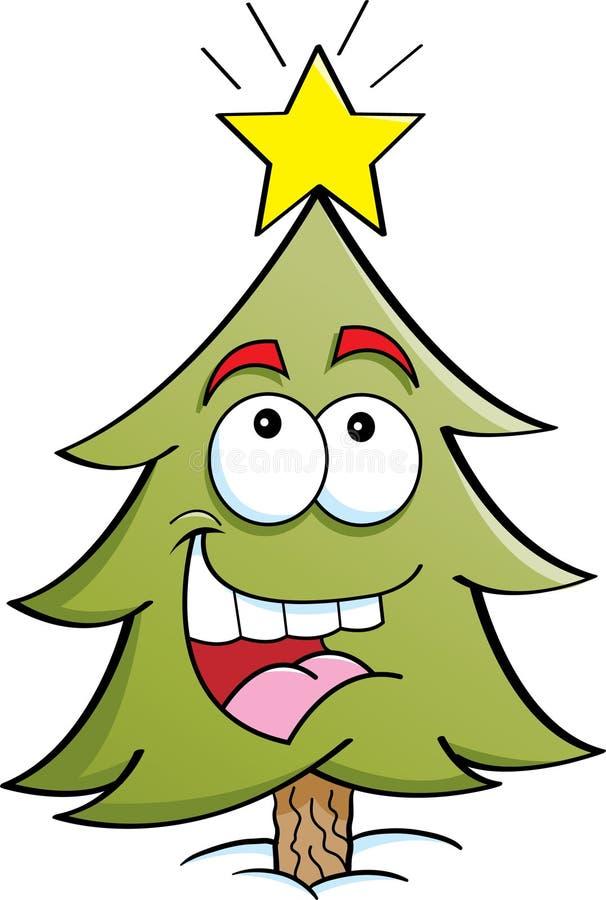 Happy Pine Tree Royalty Free Stock Image