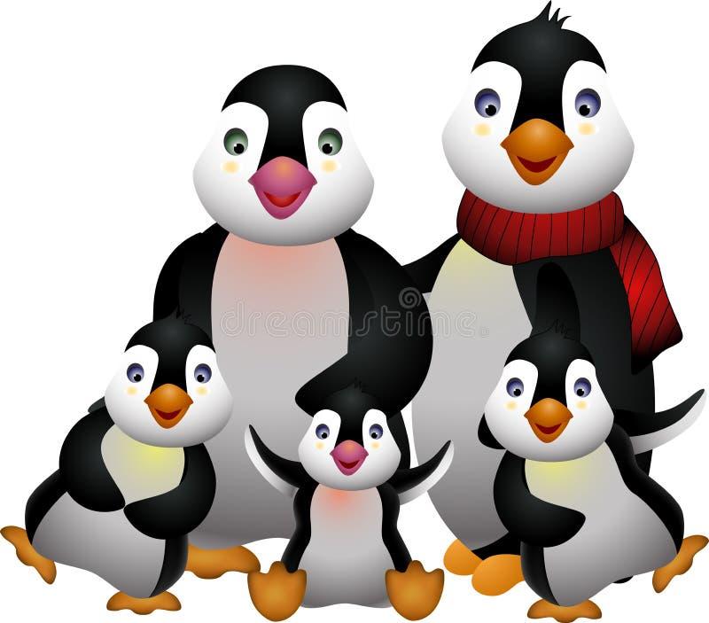 Happy Pinguin Family Royalty Free Stock Photo