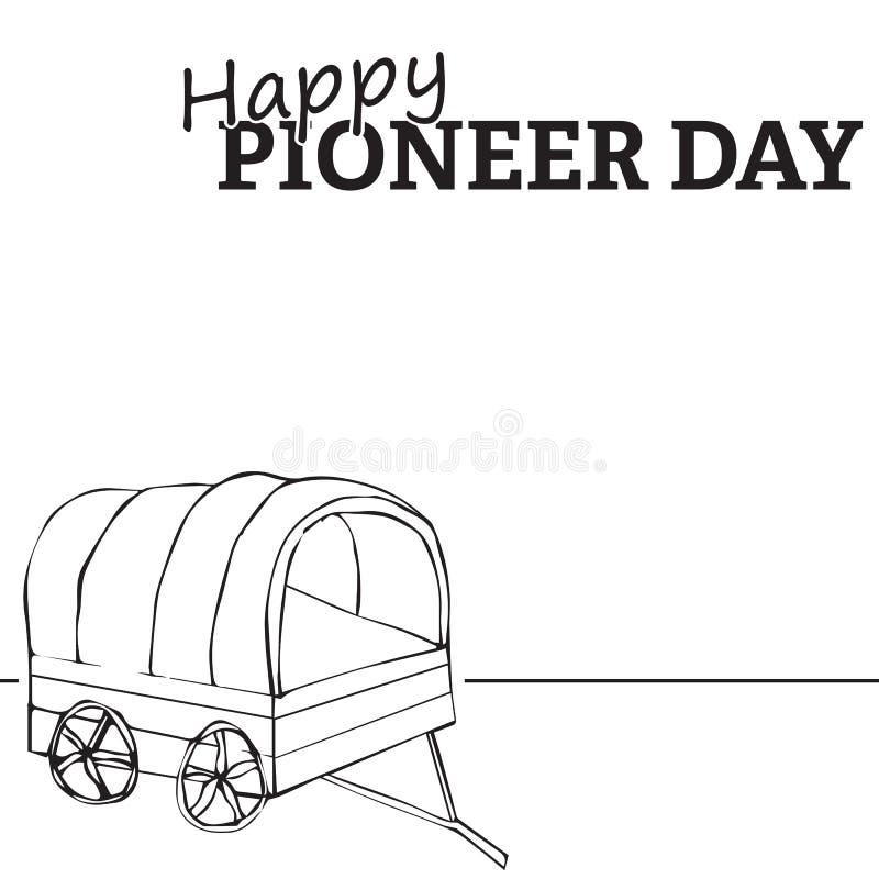Download Happy pioneer day stock vector. Image of pioneers, nauvoo - 56419480