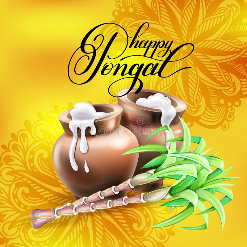 Happy pongal greeting card to south indian harvest festival stock download happy pongal greeting card to south indian harvest festival stock vector illustration of illustration m4hsunfo