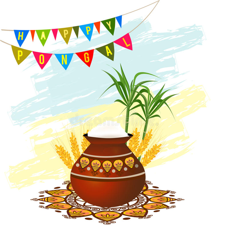 Happy pongal south indian harvesting festival greeting card stock download happy pongal south indian harvesting festival greeting card stock vector illustration of food m4hsunfo