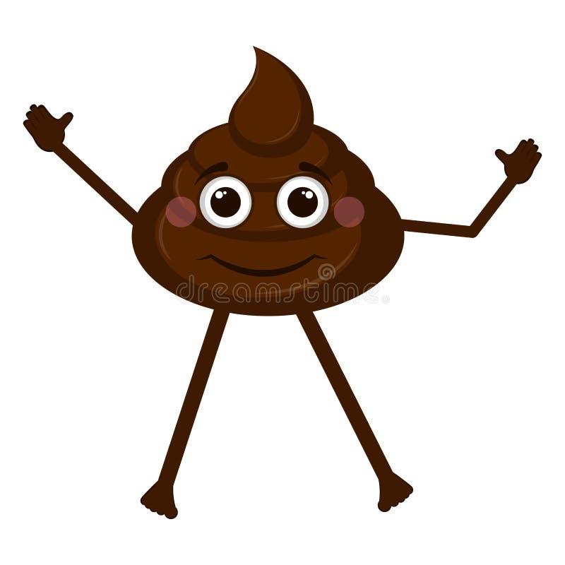 Happy poop emoji vector illustration