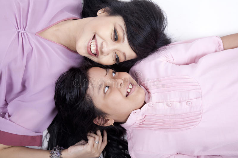 Download Happy Pose Of Mother And Daughter Stock Image - Image: 21713713