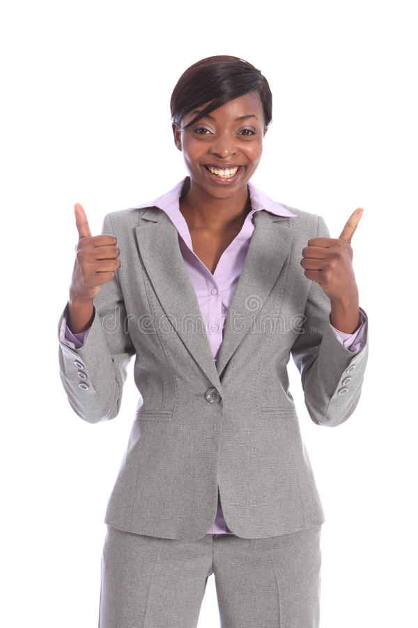 Download Happy And Positive Beautiful Black Business Woman Stock Image - Image: 20625069