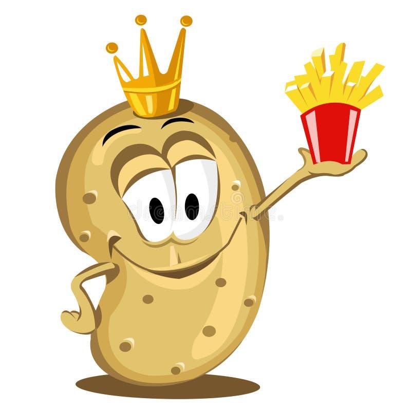 Happy potato vector illustration