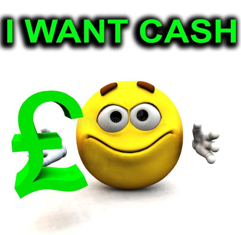 Download Happy Pound Guy I Want Cash Stock Illustration - Image: 4118094