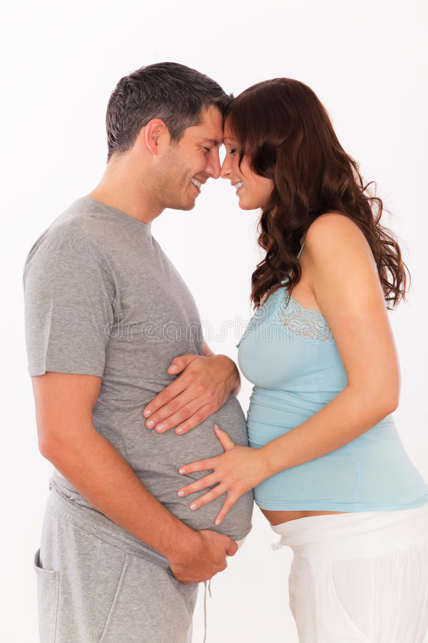 Happy pregnancy stock image