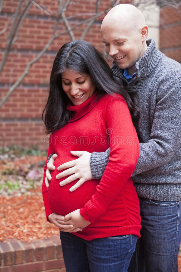 Happy Pregnant couple royalty free stock photography
