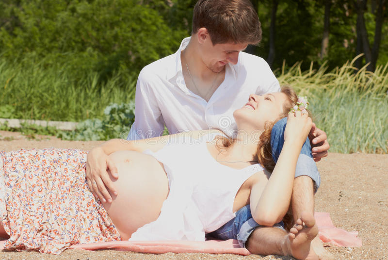 Download Happy Pregnant Girl And Her Loving Husband Stock Photo - Image: 25449124