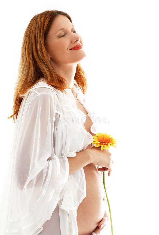 Happy Pregnant Lady Stock Image
