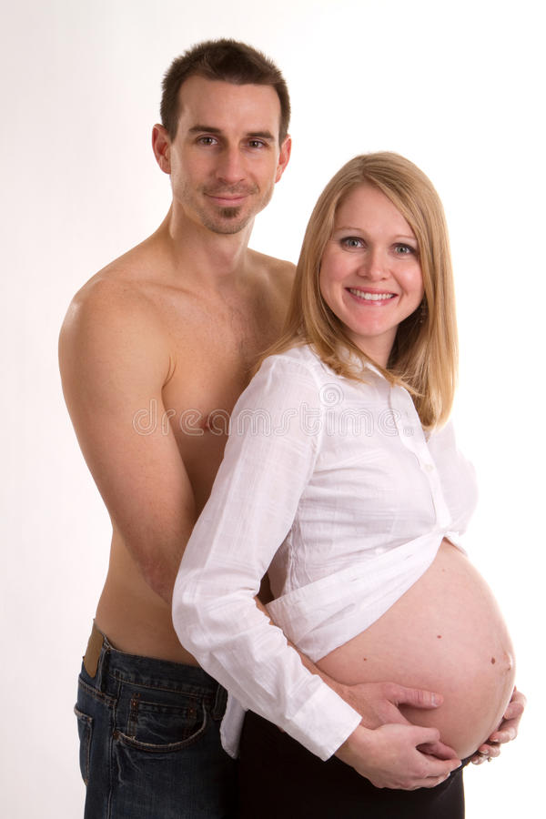Happy Pregnant Married royalty free stock photos