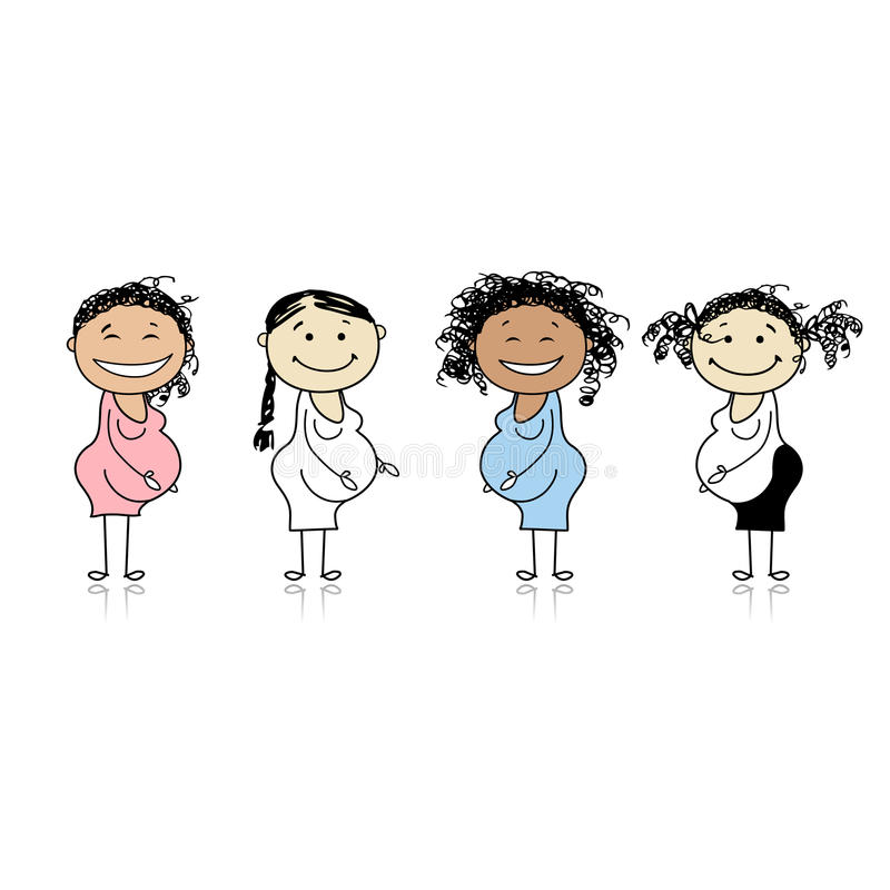 Download Happy Pregnant Women Waiting For Babies Stock Images - Image: 18011214