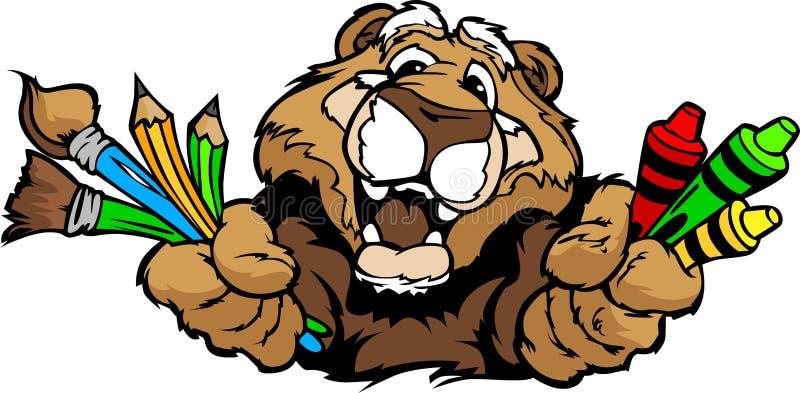Download Happy Preschool Cougar Mascot Cartoon  Image Royalty Free Stock Photography - Image: 24084237