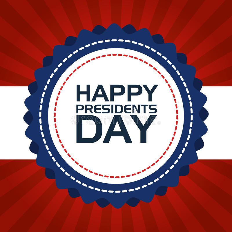 Happy presidents day poster. Vector illustration design vector illustration