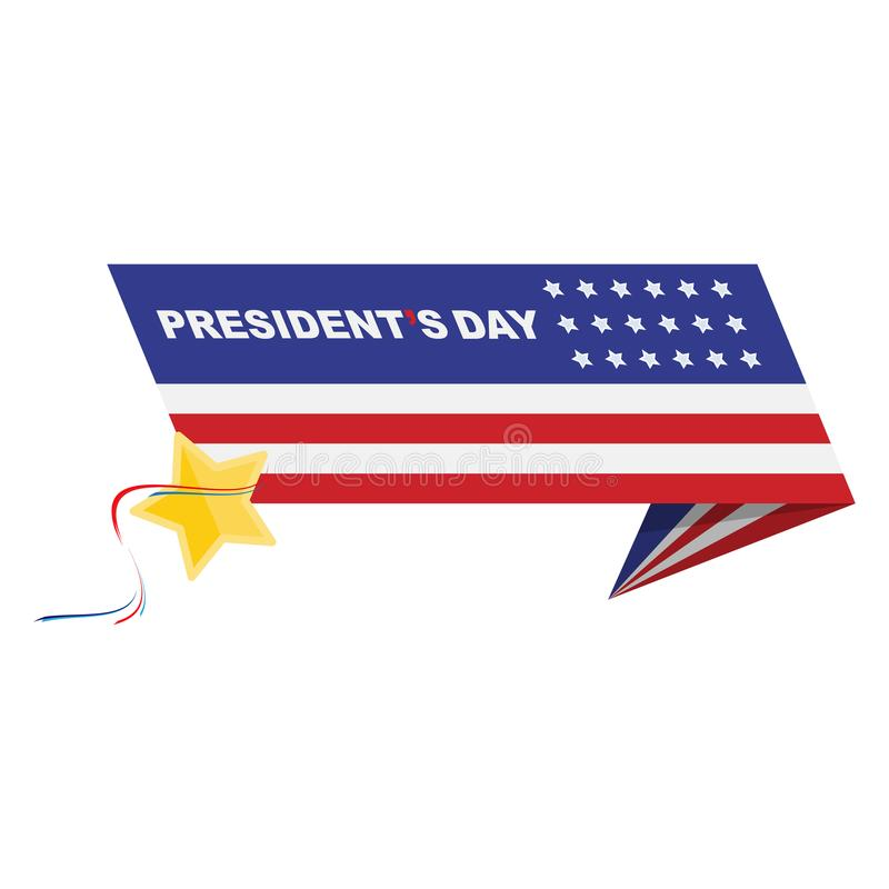 happy presidents day of usa template design element with text and