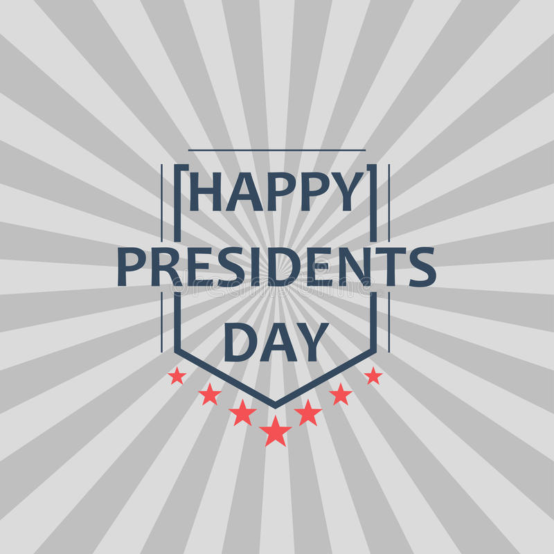 Happy Presidents Day Vector Illustration. Design for greeting card, poster and banner. royalty free illustration