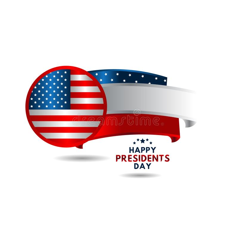 Happy Presidents Day Vector Template Design Illustration. Happy Presidents Day Vector Design Illustration royalty free illustration