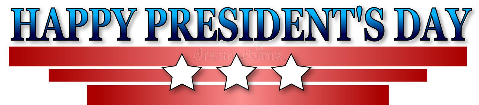 Happy Presidents day. On white background royalty free illustration