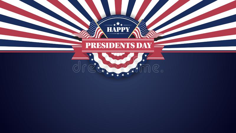 Happy Presidents Day Banner Background and Greeting Cards. Vector Illustration. Happy Presidents Day Banner Background and Greeting Cards with Copy Space. Vector stock illustration