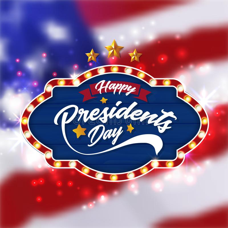 Happy Presidents Day Banner Background and Greeting Cards. Vector Illustration vector illustration