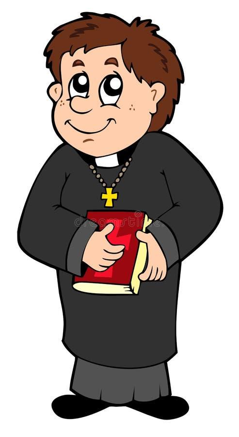 Download Happy priest stock vector. Image of coat, catholic, happiness - 15209869