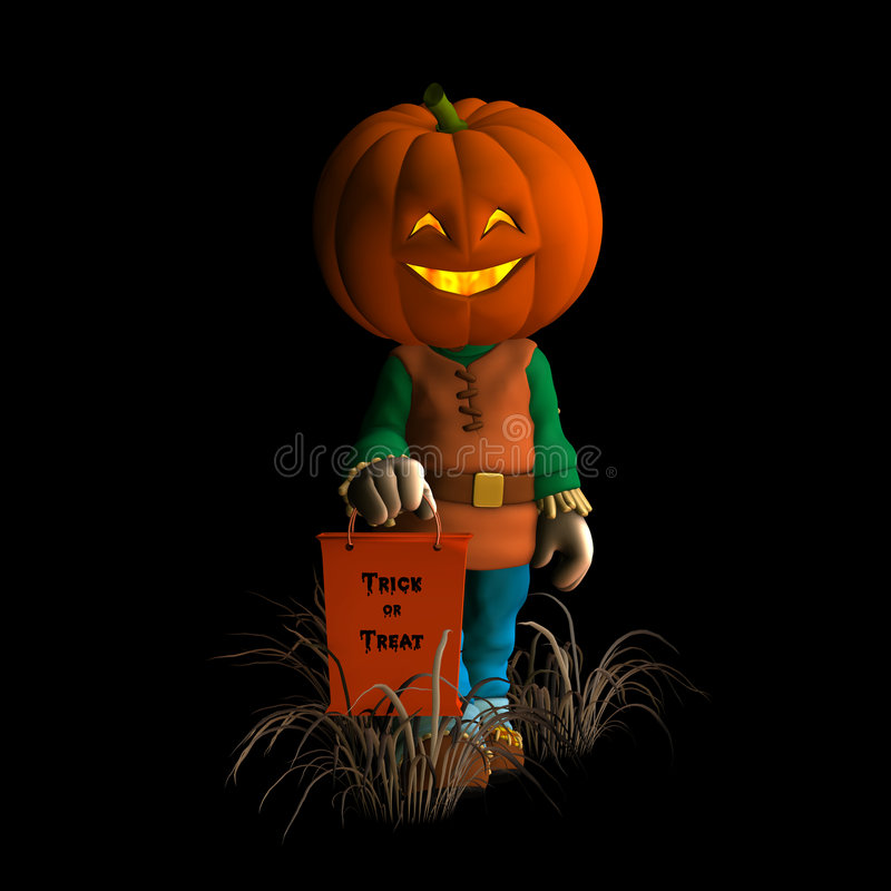 Happy Pumpkin Scarecrow 2 royalty free stock photos