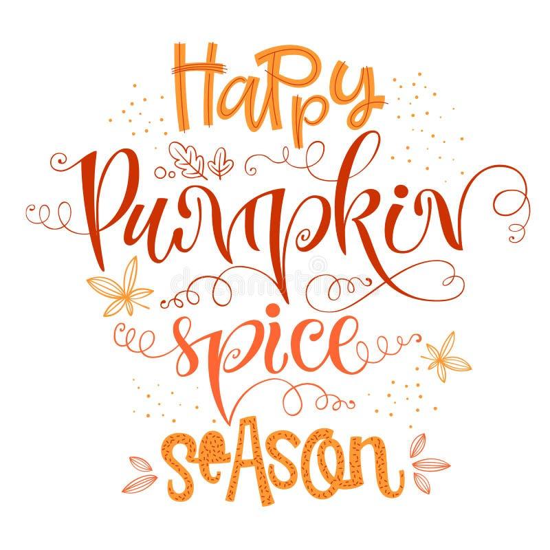 Free Happy Pumpkin Spice Season - Quote. Autumn Pumpkin Spice Season Handdrawn Lettering Phrase Royalty Free Stock Photos - 156336398