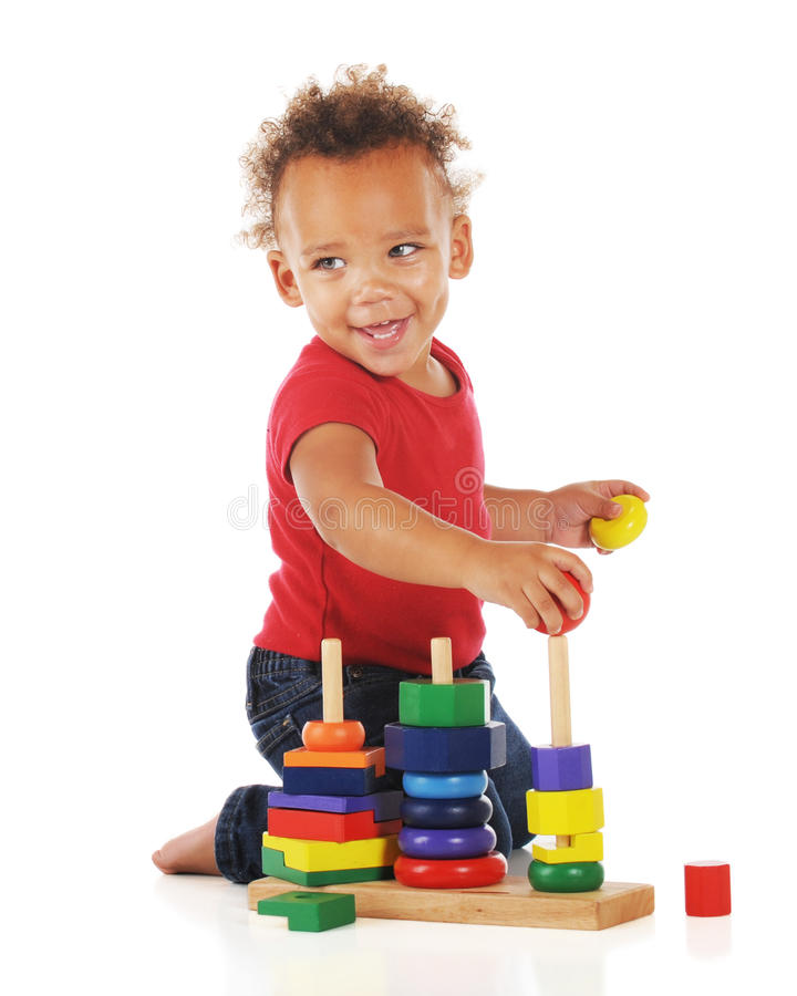 Download Happy Puzzler stock photo. Image of toddler, child, ethnic - 21589664