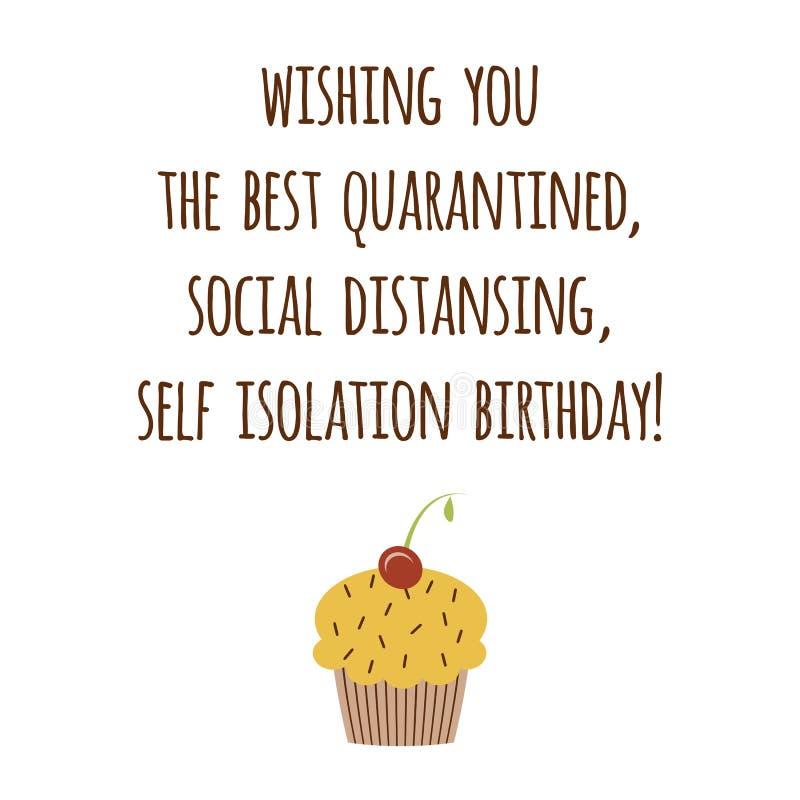 Happy Quarantined Birthday Set Cards Funny Quarantine