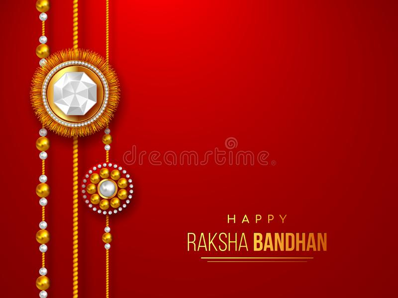 Happy Raksha Bandhan festival design. vector illustration