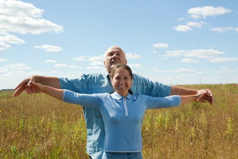 Happy Retired Couple stock images