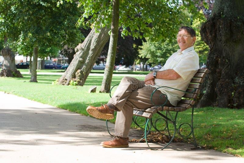 Happy retired man stock photos