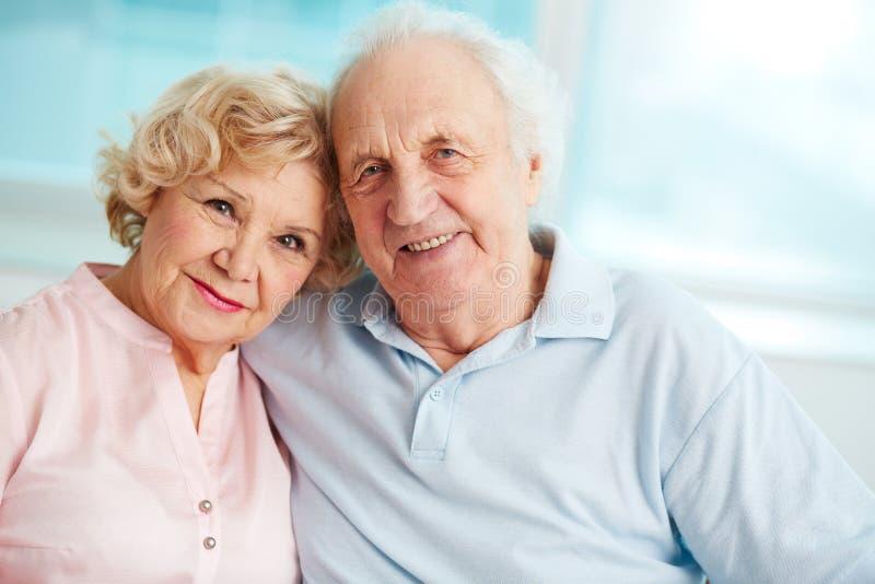 Happy retirement stock image