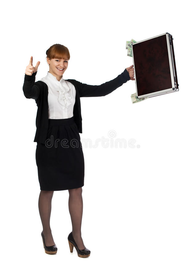 Download Happy rich girl stock image. Image of copy, money, concept - 14094095