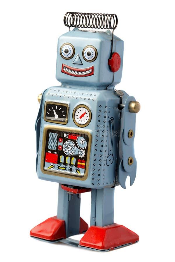 Happy robot stock photography